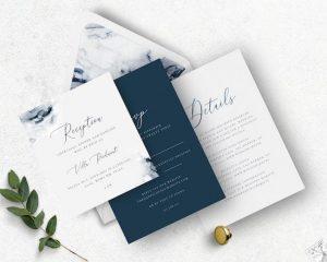 Marble & Geode Wedding Invitations