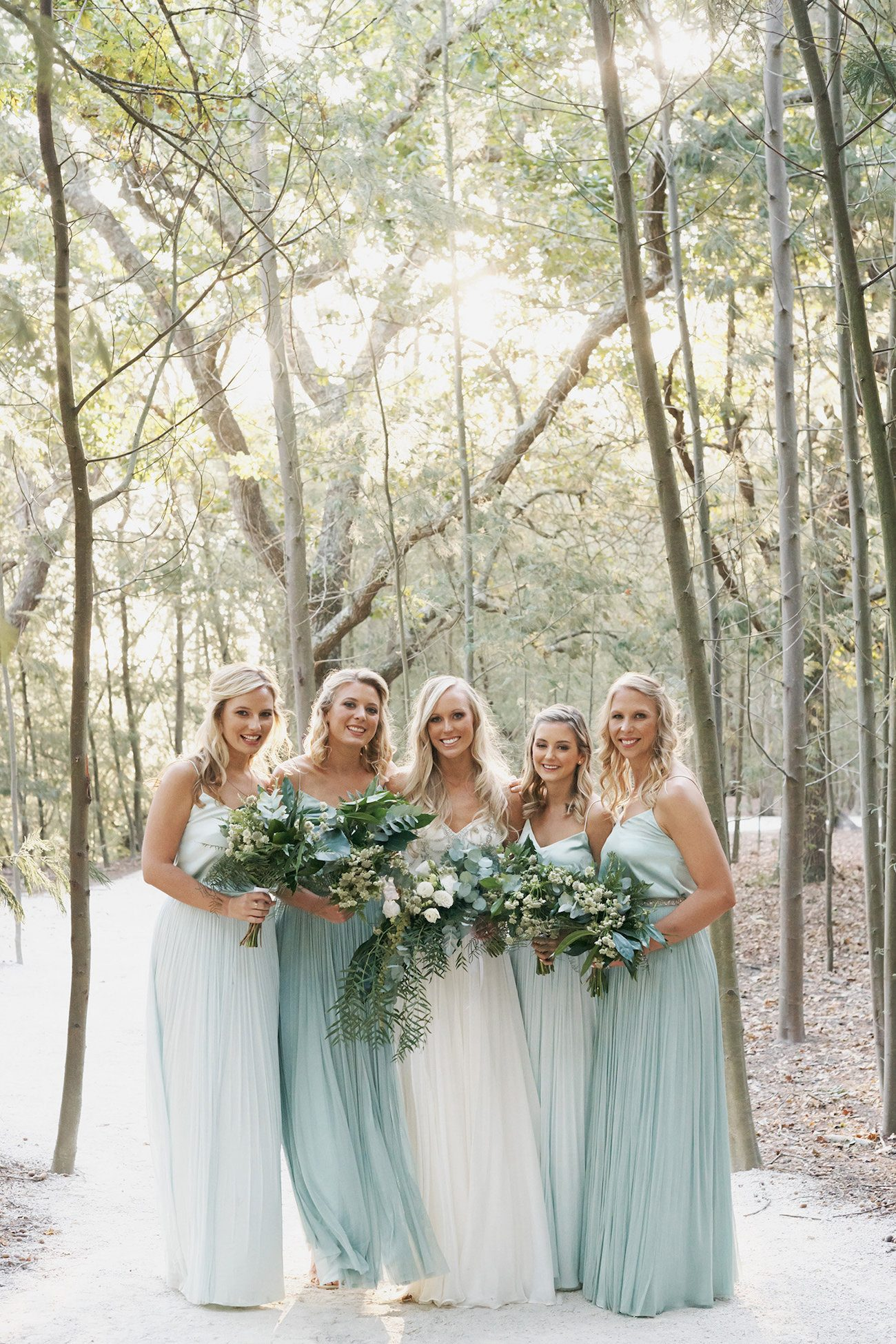 Mint Catherine Deane Bridesmaid Dresses   Image: Knit Together Photography