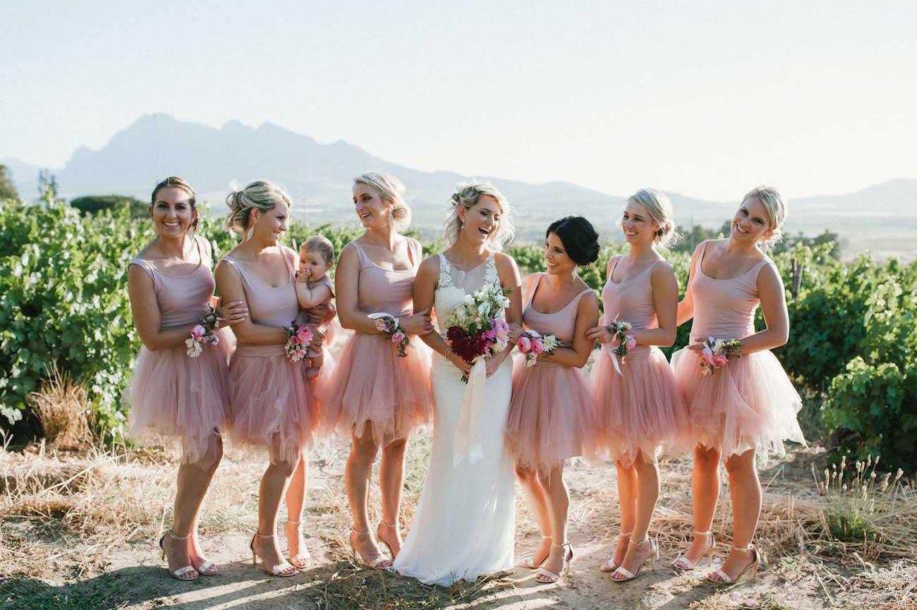 Best bridesmaid dress trends 2017 i only had two requirements they should all be long dresses and they had to fit with our warm wedding colours ie shades of pink and gold ombrellifo Choice Image
