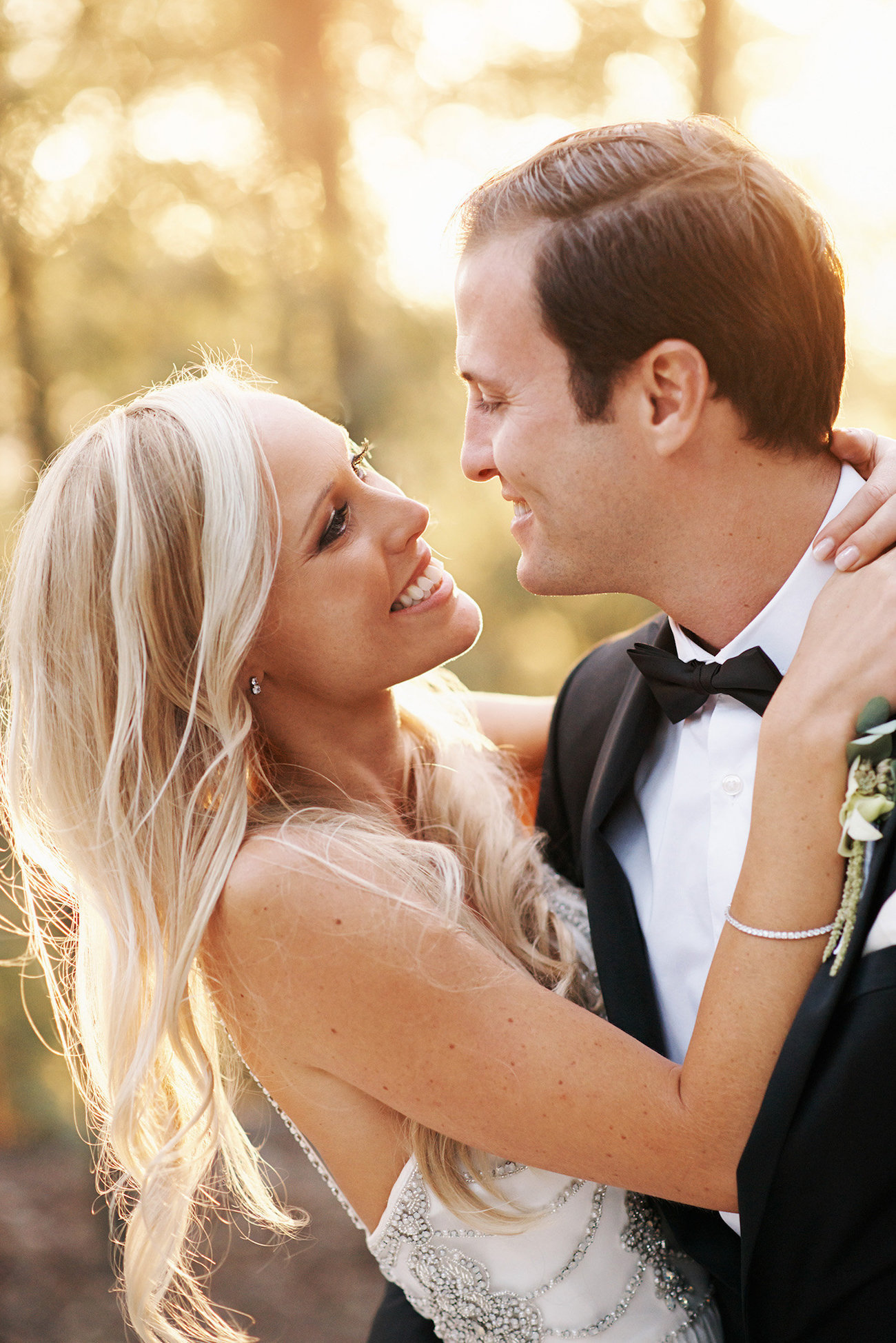 Romantic Portrait of Bride and Groom | Image: Knit Together Photography