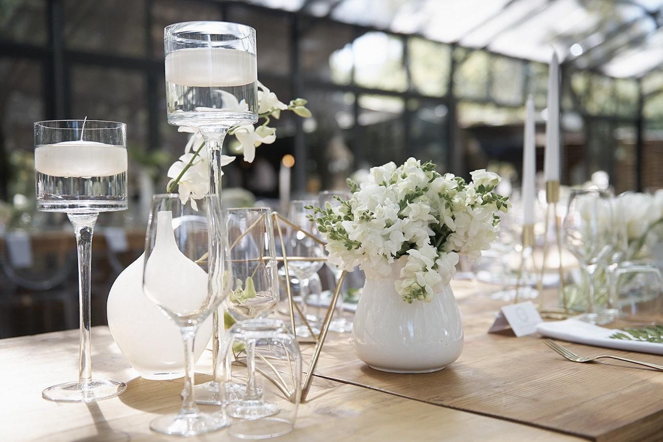 Floating Candle Wedding Decoration   Image: Knit Together Photography
