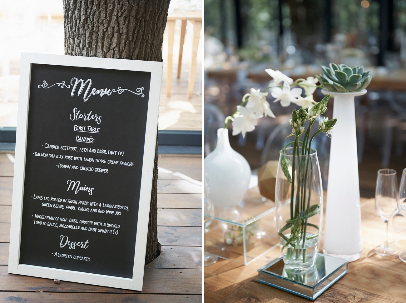 Romantic Forest Wedding Decor   Image: Knit Together Photography
