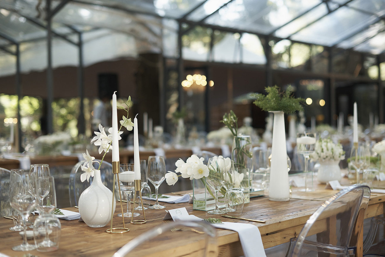 Romantic Forest Wedding Table Decor   Image: Knit Together Photography