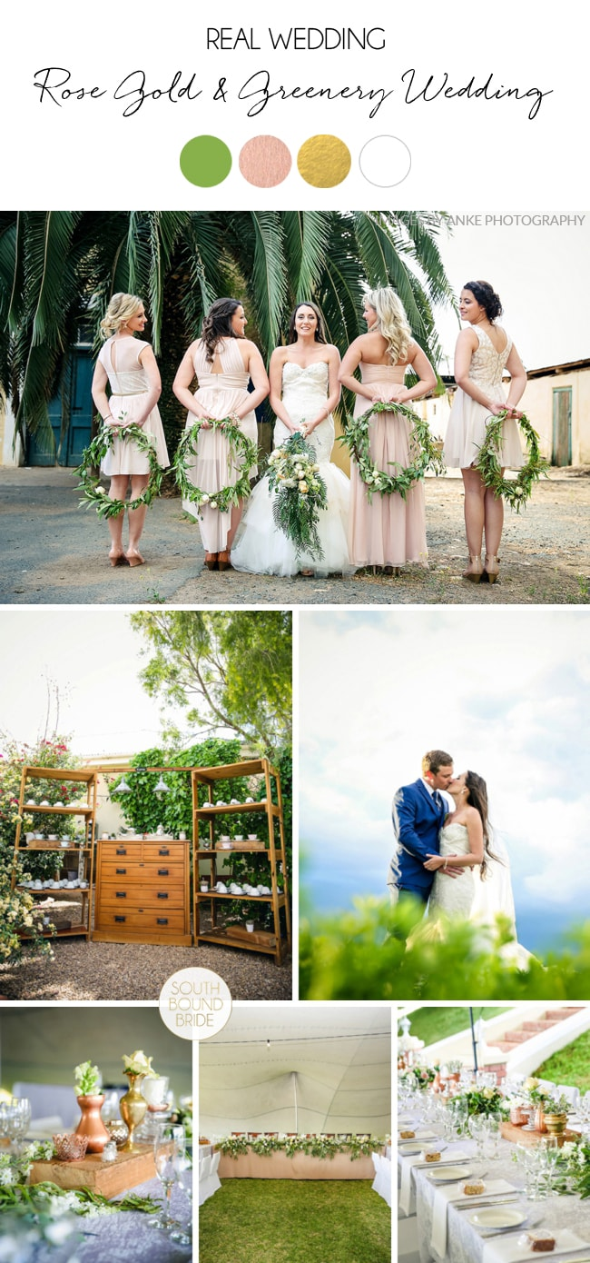 Rose Gold & Greenery Garden Route Wedding by Anke Photography | SouthBound Bride