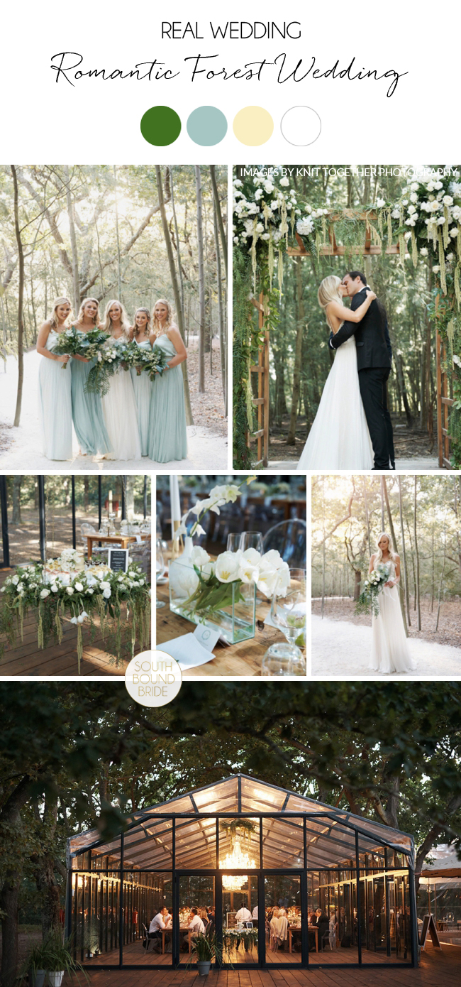 Romantic Forest Wedding by Knit Together Photography | SouthBound Bride