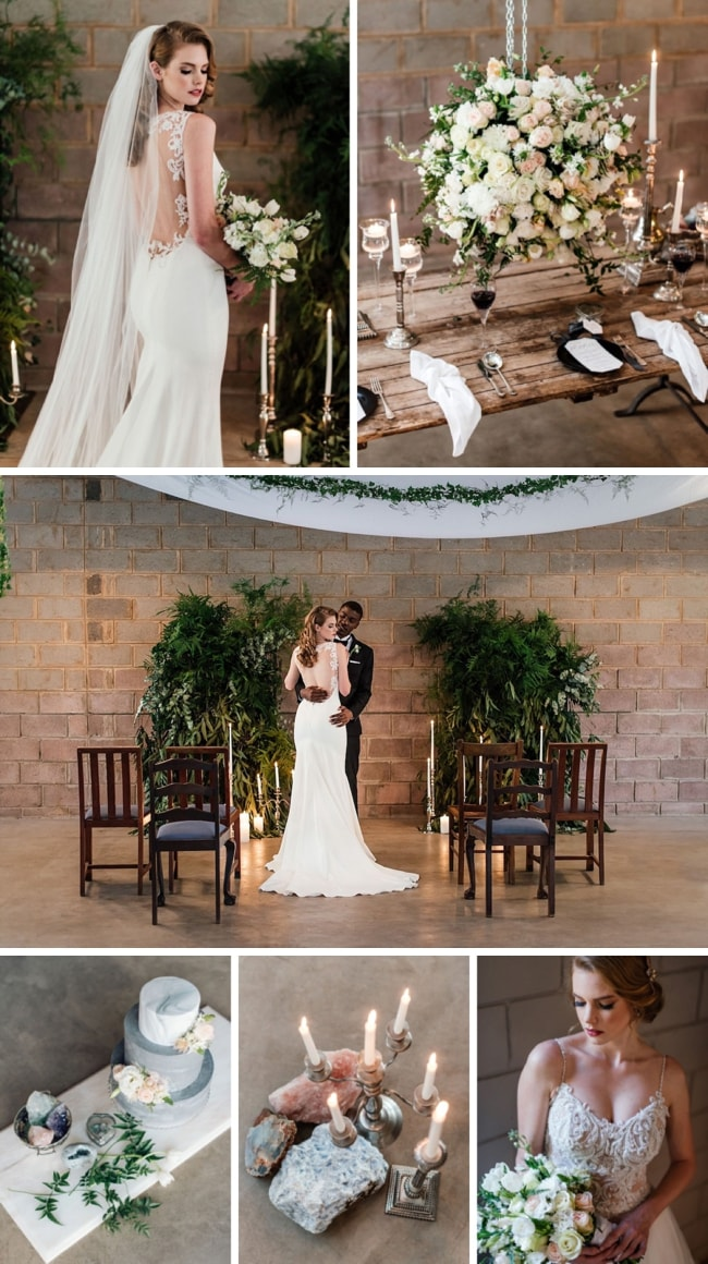 Modern Gems Industrial Wedding Inspiration by Wilma Towell | SouthBound Bride