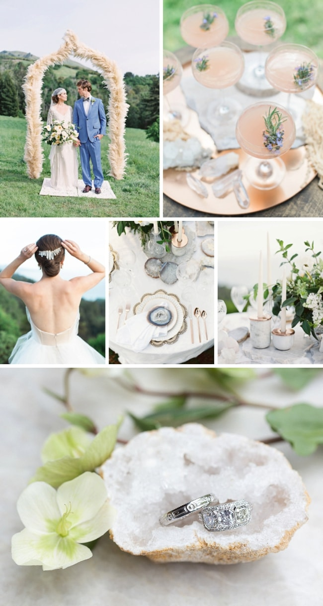 Natural Elements Boho Luxe Wedding Inspiration by Carlie Statsky | SouthBound Bride