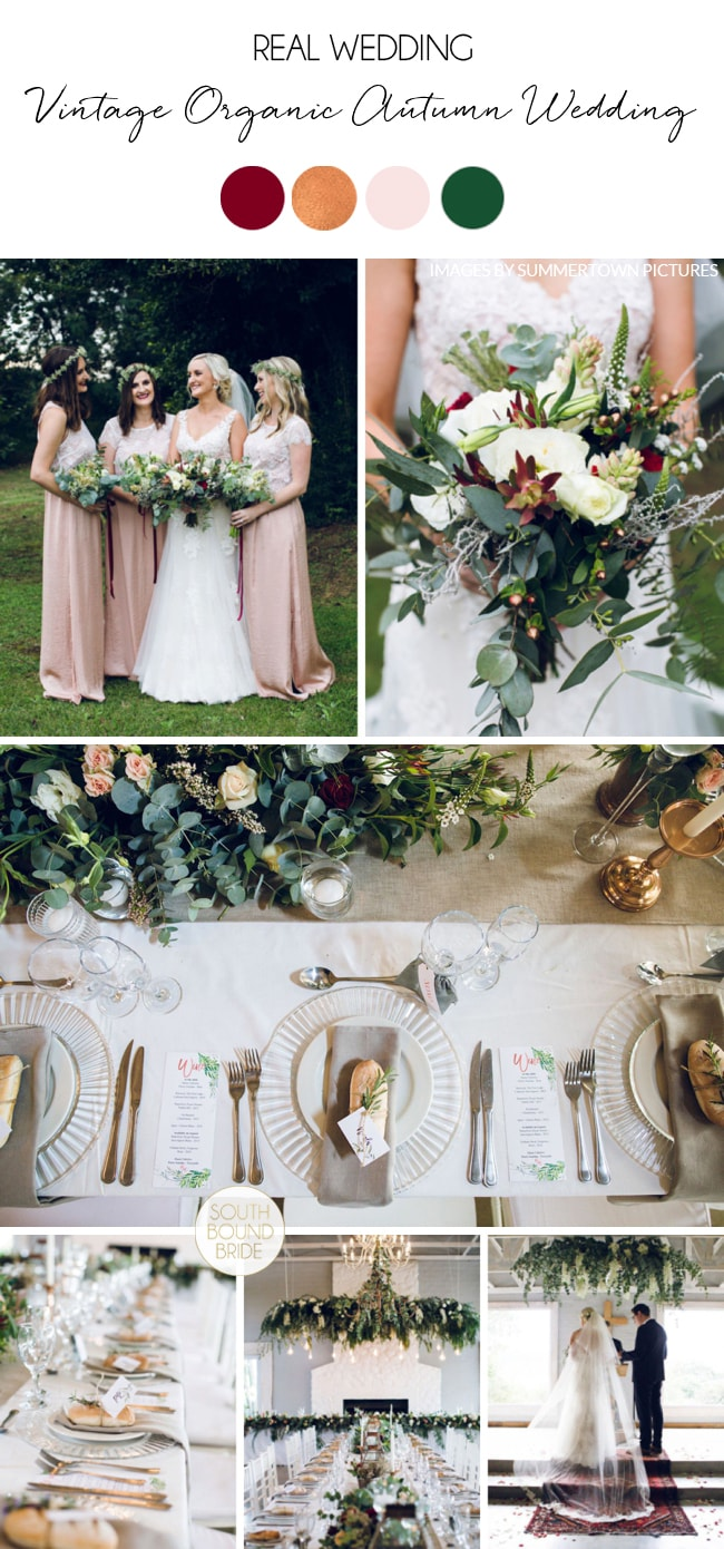 Vintage Organic Autumn Wedding by Summertown Pictures | SouthBound Bride