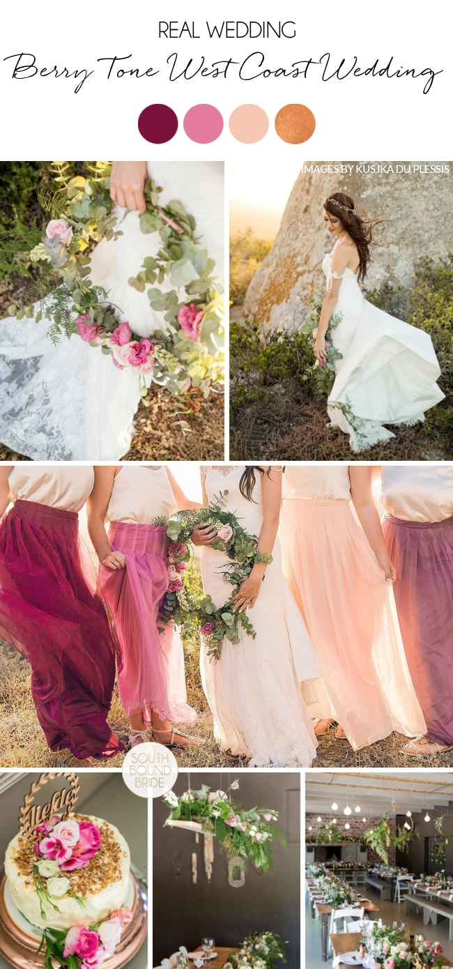 Berry Tone West Coast Wedding by Kusjka du Plessis | SouthBound Bride