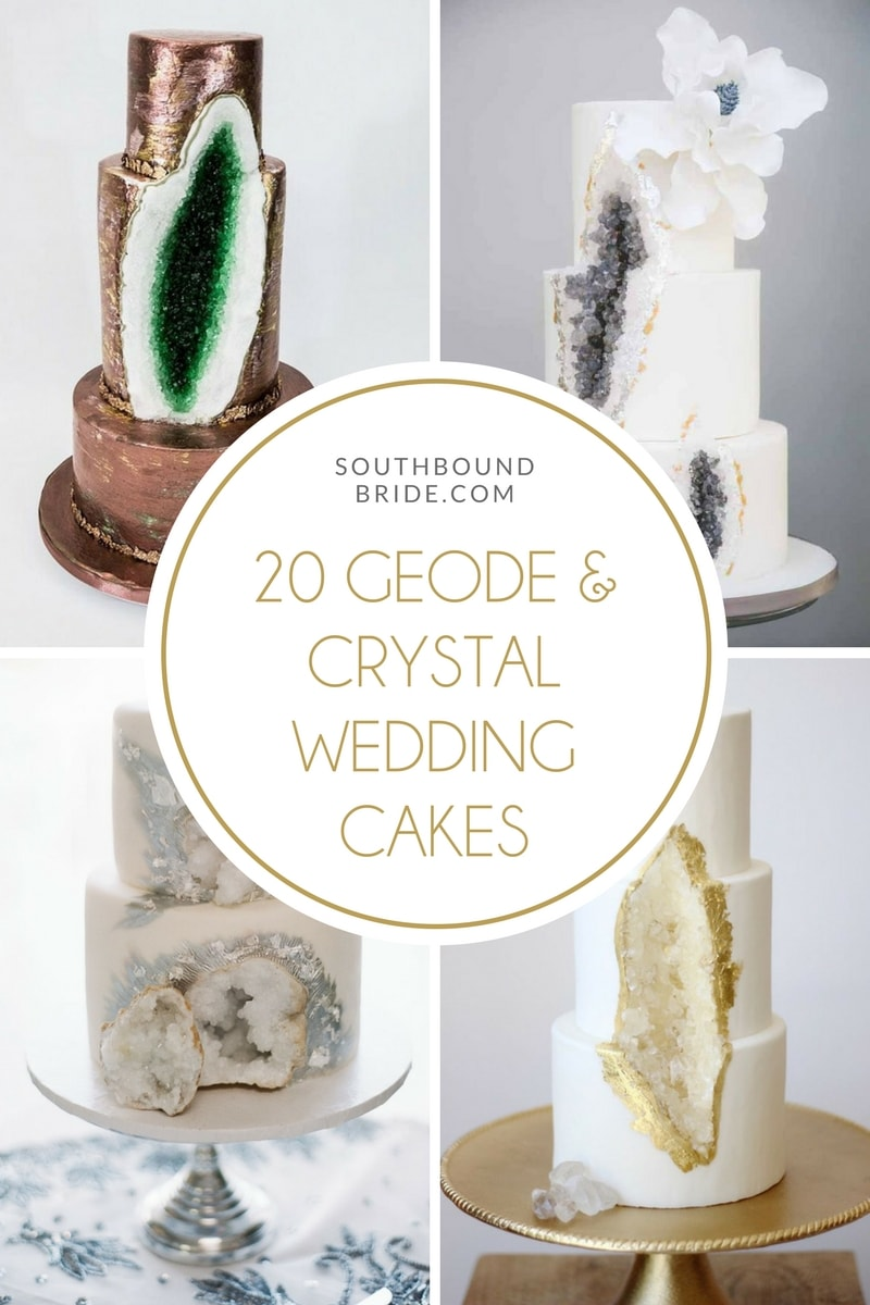 20 Geode & Crystal Wedding Cakes | SouthBound Bride