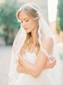 fine art wedding veil