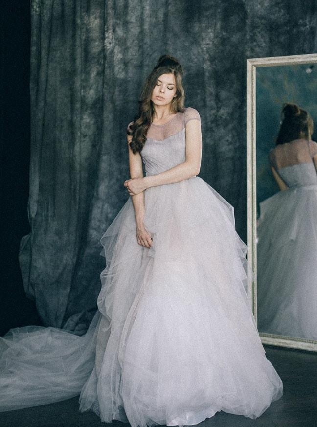bf6c745247 Dusty Lavender Wedding Dress by Lilu Bridal