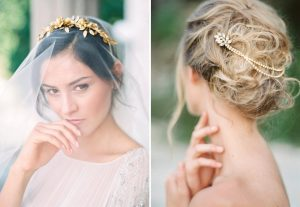 fine art wedding hairpiece