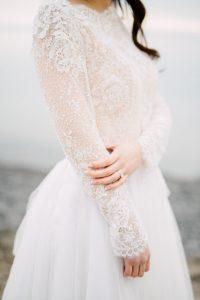 fine art wedding dress