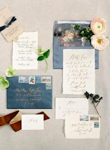 fine art wedding hand lettered calligraphy invitations