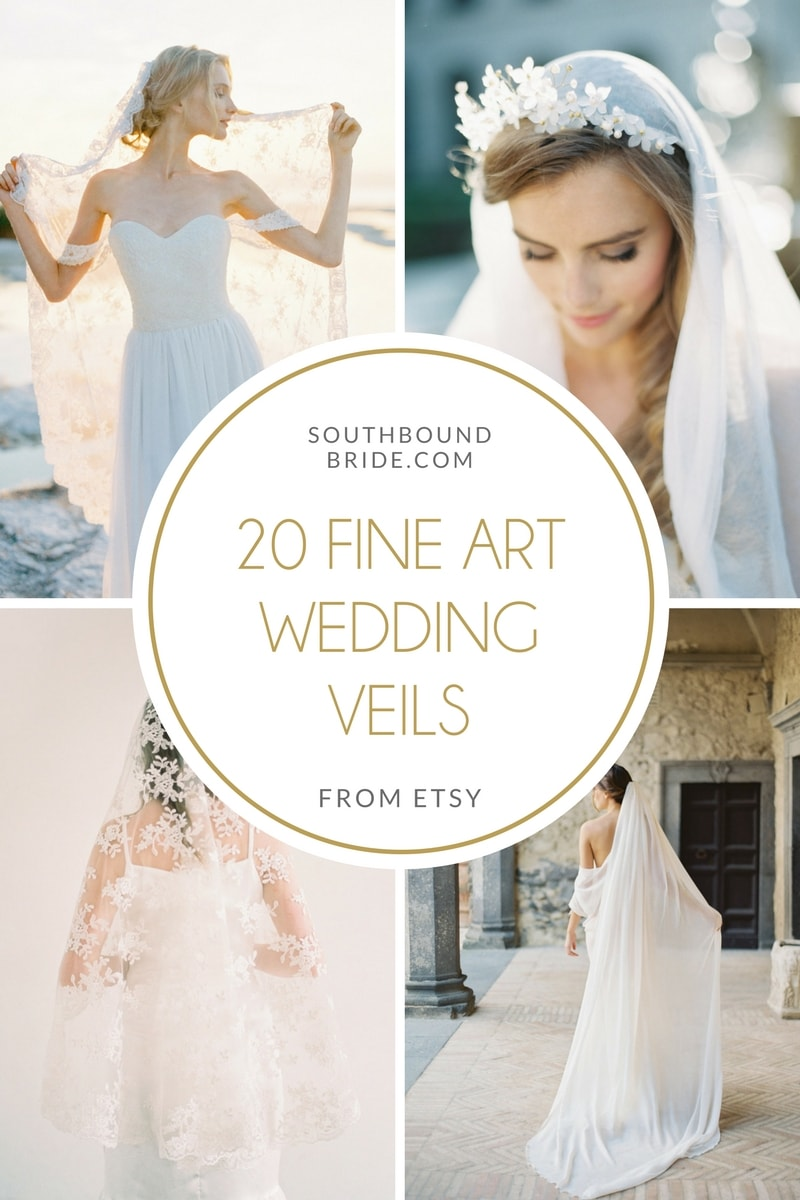 20 Fine Art Wedding Veils from Etsy | SouthBound Bride