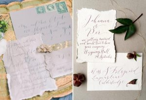 fine art wedding hand lettered calligraphy invitations
