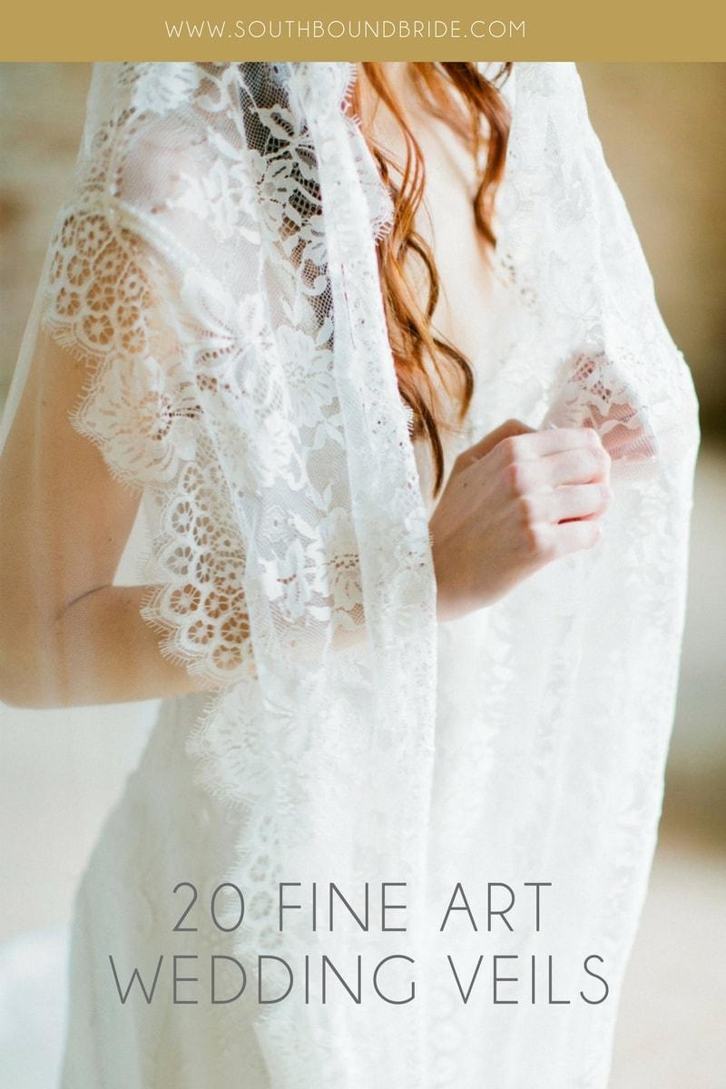 20 Fine Art Wedding Veils from Etsy | SouthBound Bride