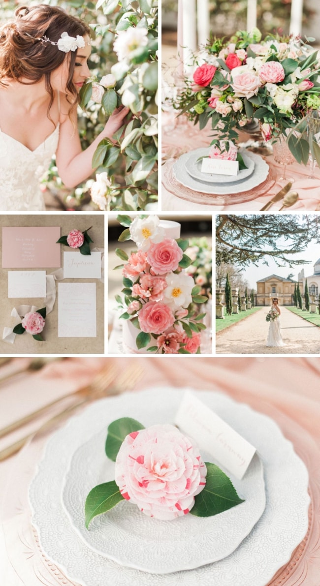 Spring Camellia Wedding Inspiration | SouthBound Bride