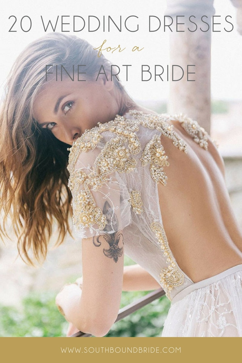 Fine Art Wedding Dresses from Etsy | SouthBound Bride