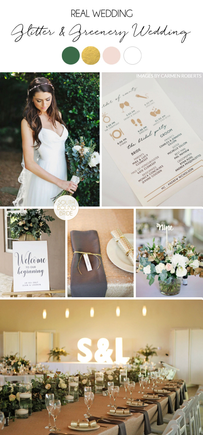 Glitter & Greenery Wedding by Carmen Roberts | SouthBound Bride