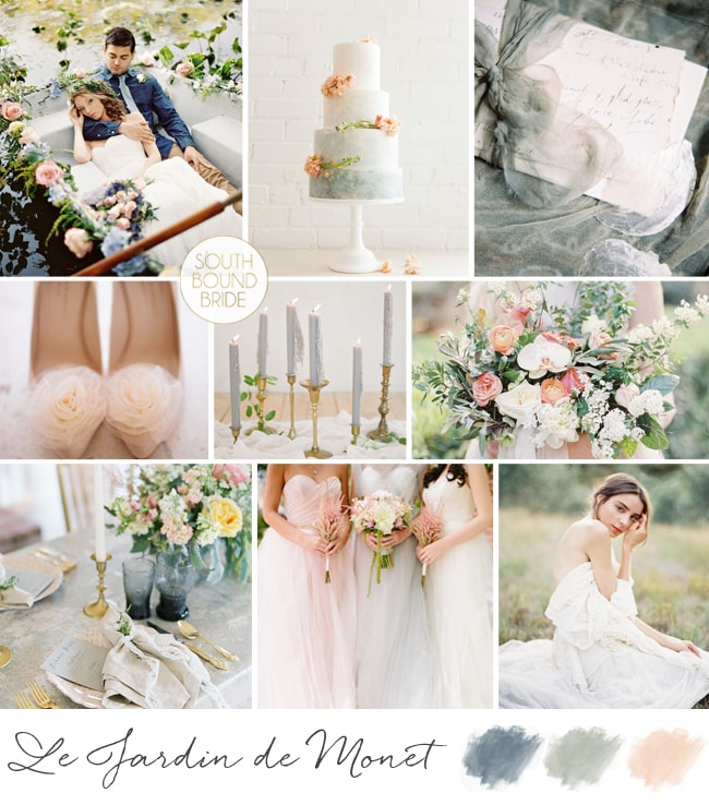 Monet Fine Art Wedding Inspiration Board | SouthBound Bride