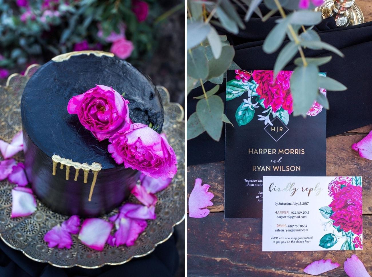 halloween color pop wedding inspirationstephanie norman