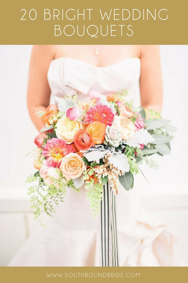 20 Bright Wedding Bouquets | SouthBound Bride