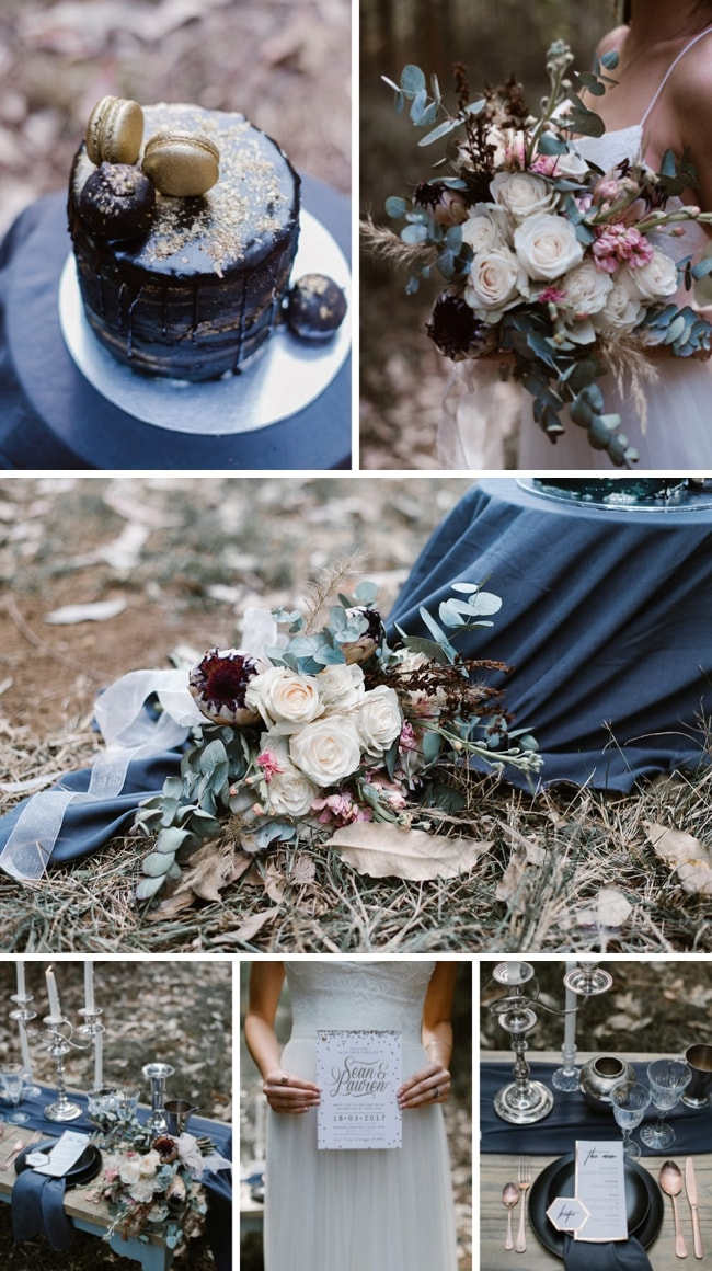 Midnight Mixed Metallics Wedding Inspiration by MLK Photography | SouthBound Bride