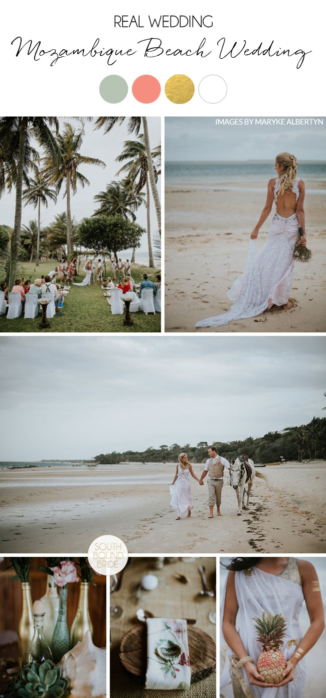 Mozambique DIY Beach Wedding by Maryke Albertyn | SouthBound Bride
