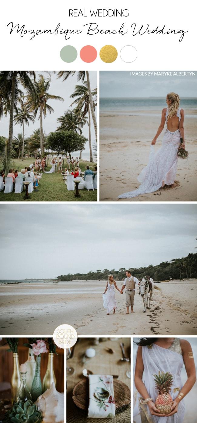 Mozambique DIY Beach Wedding by Maryke Albertyn | SouthBound Bride