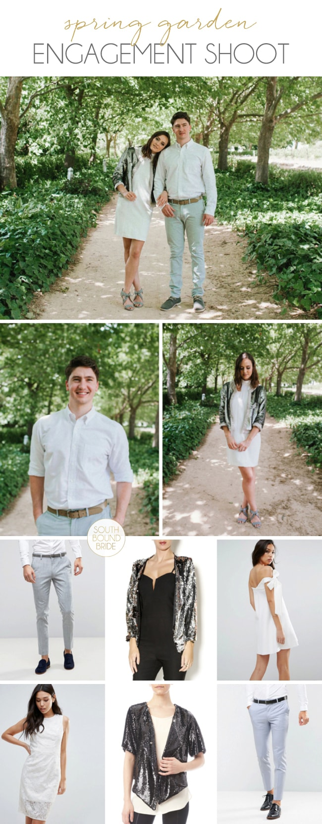 Spring Garden Engagement Shoot by Claire Thomson | SouthBound Bride
