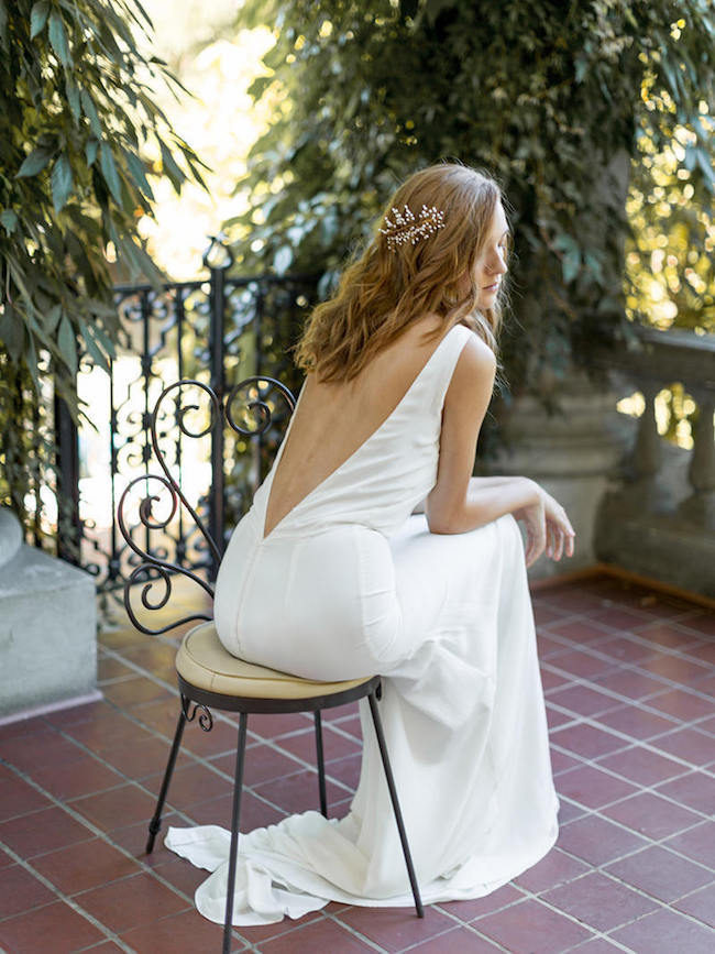 Minimalist Low Back Wedding Dress