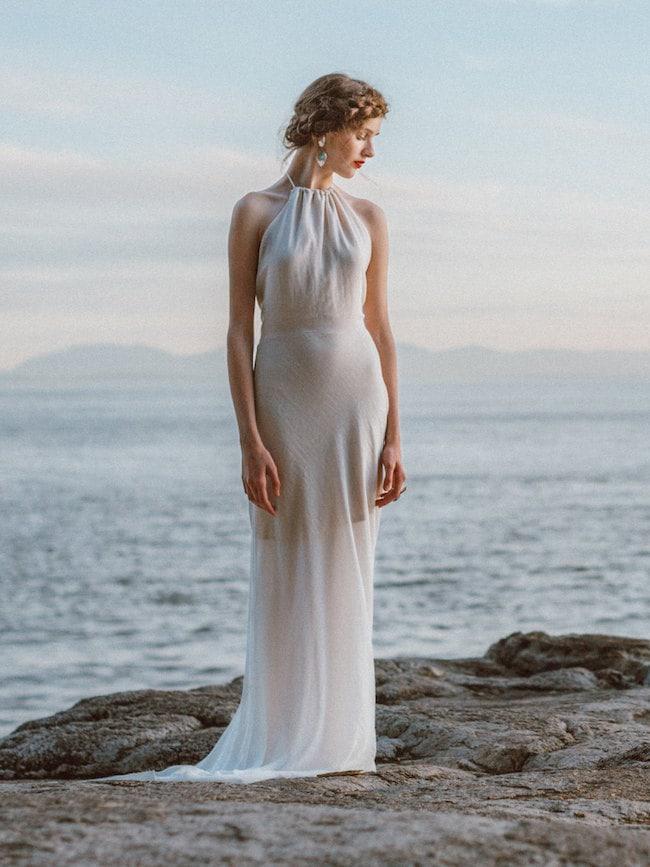Simple Elegant Beach Wedding Dress