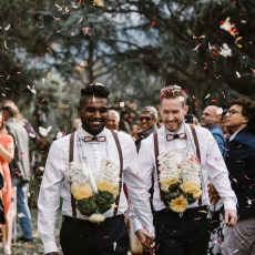 Greenery-filled Same Sex City Wedding by Thunder and Love Photography