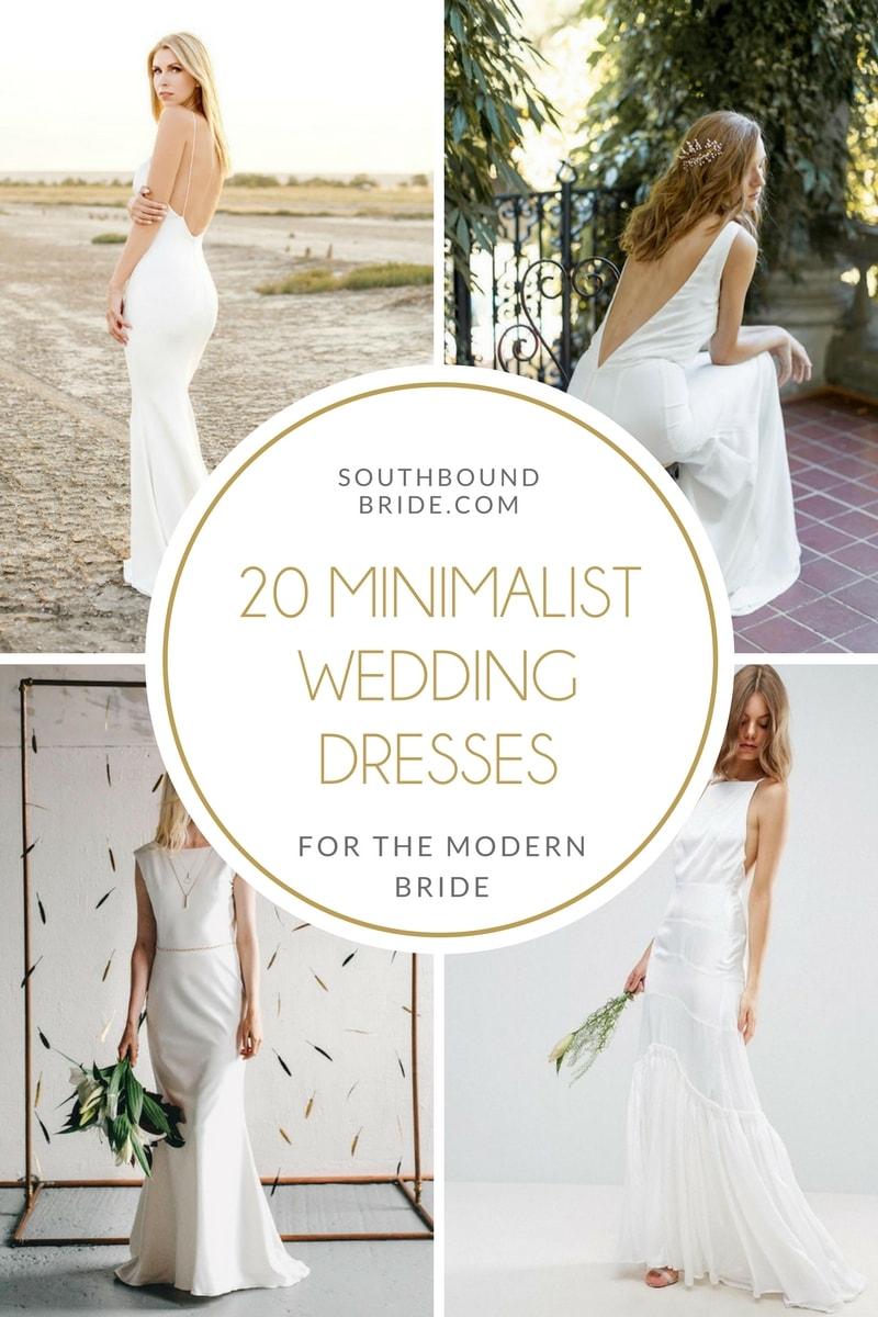 20 Elegant Minimalist Wedding Dresses   SouthBound Bride