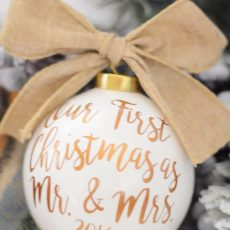 20 Newlywed Christmas Ornaments