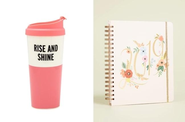 travel mug + diary