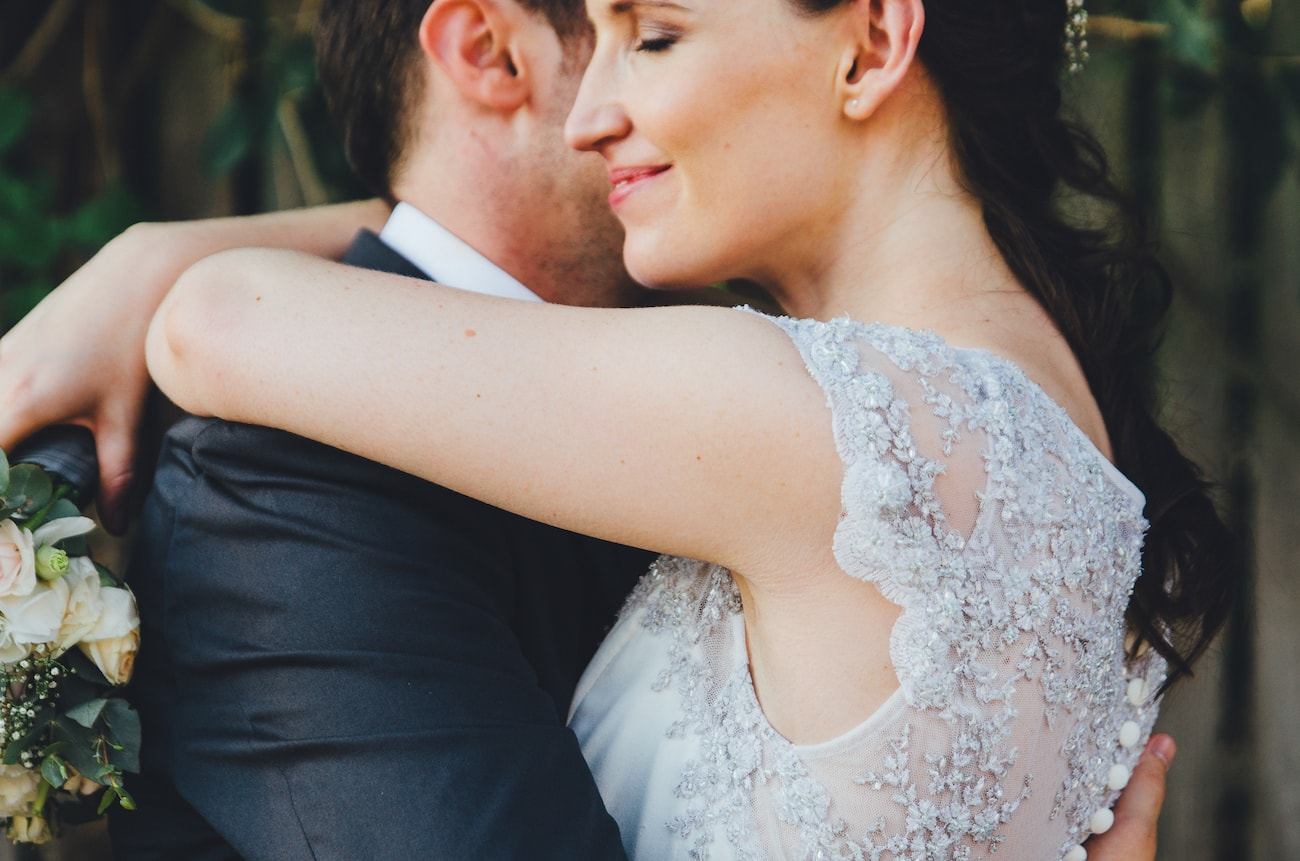 Silver Lace Wedding Dress | Credit: Yeah Yeah Photography