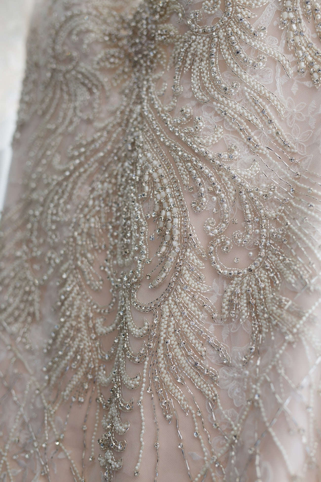 Beaded Wedding Dress | Credit: Vivid Blue