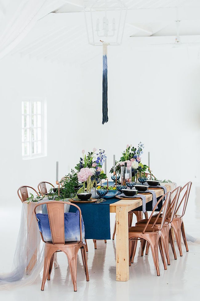 Blue Ombre Wedding Decor | Credit: Werner J Photography