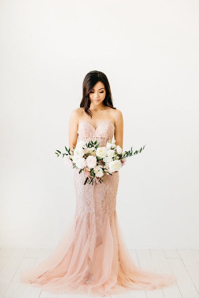 Pink Wedding Dress | Credit: Peaches With Honey