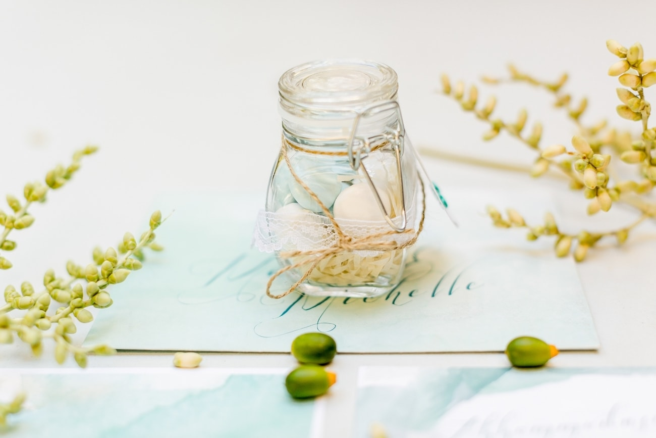 Beach Wedding Almond Favors | Credit: Grace Studios / Absolute Perfection