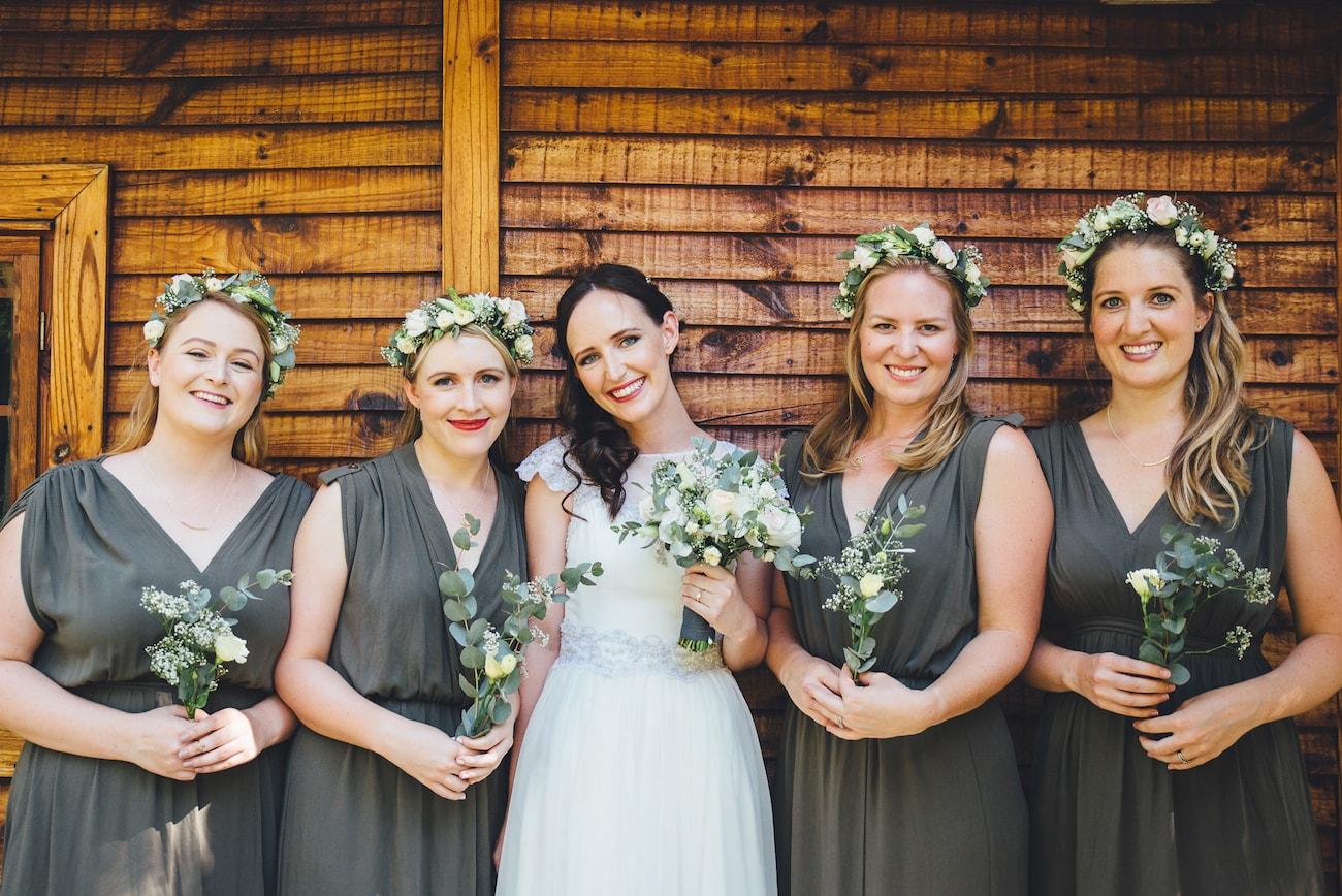 Grey Bridesmaid Dresses | Credit: Yeah Yeah Photography
