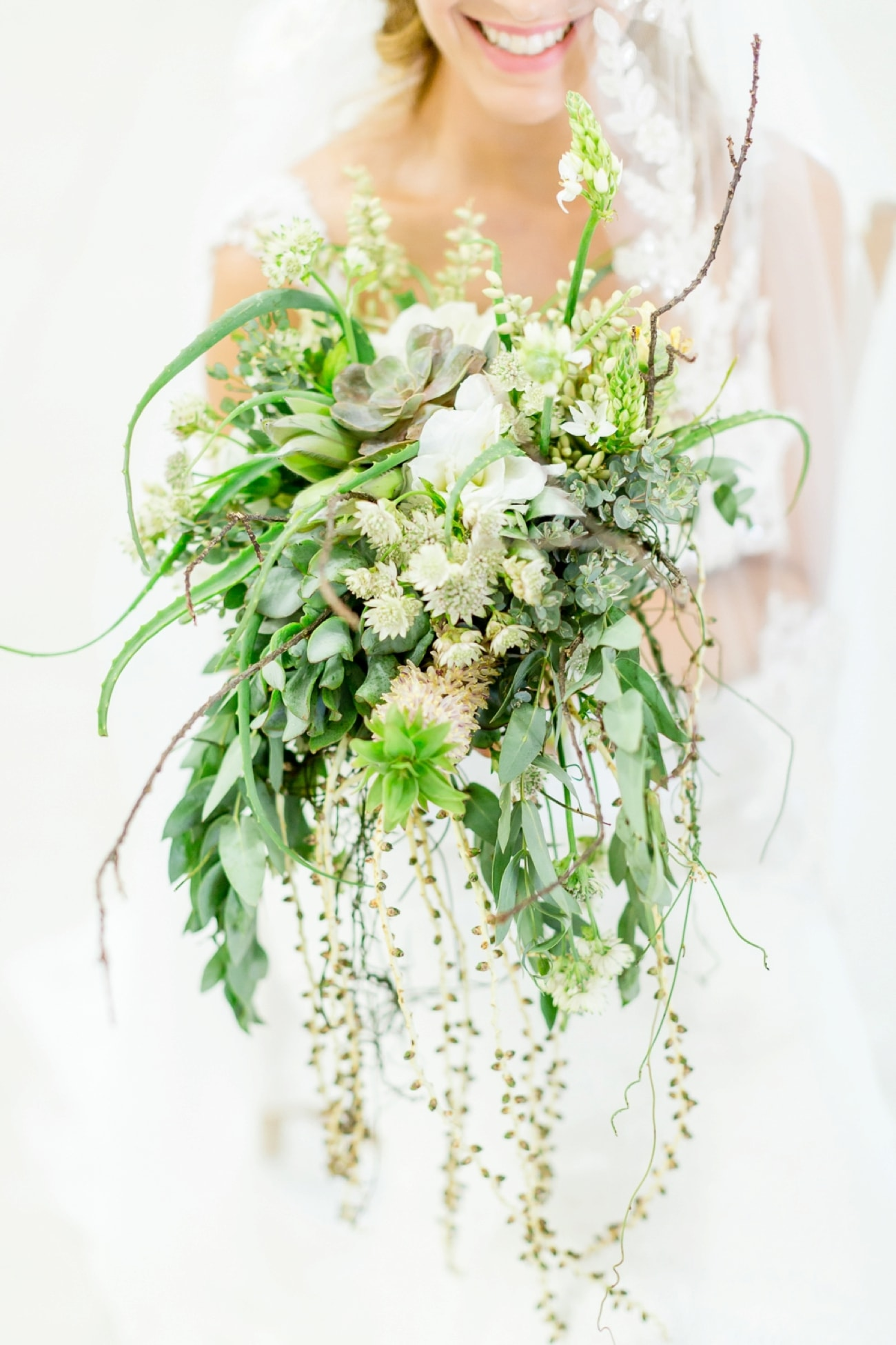 Lush Succulent & Greenery Bouquet | Credit: Grace Studios / Absolute Perfection
