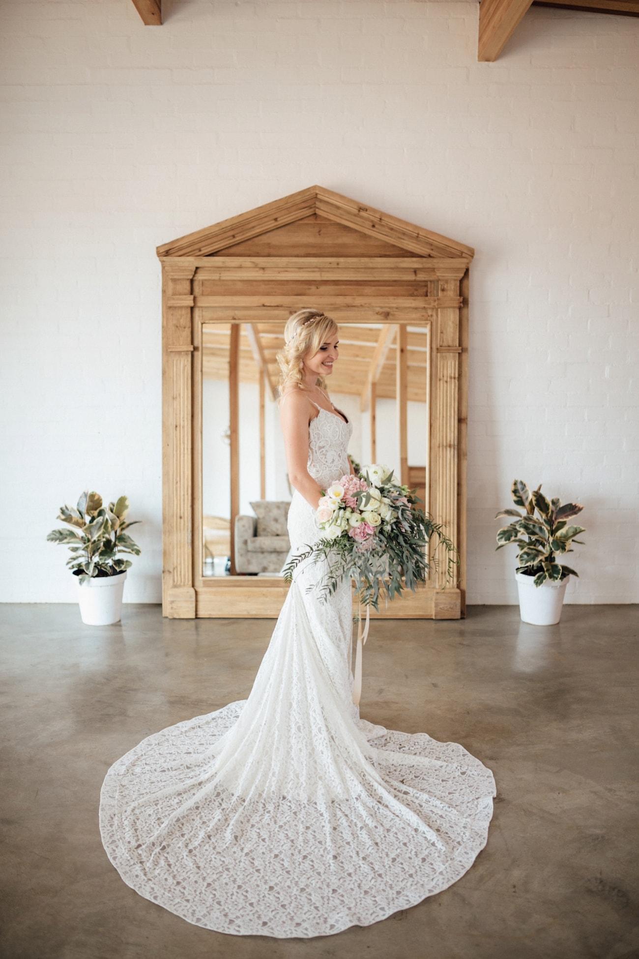 Lace Casey Jeanne Wedding Dress | Credit: Page & Holmes