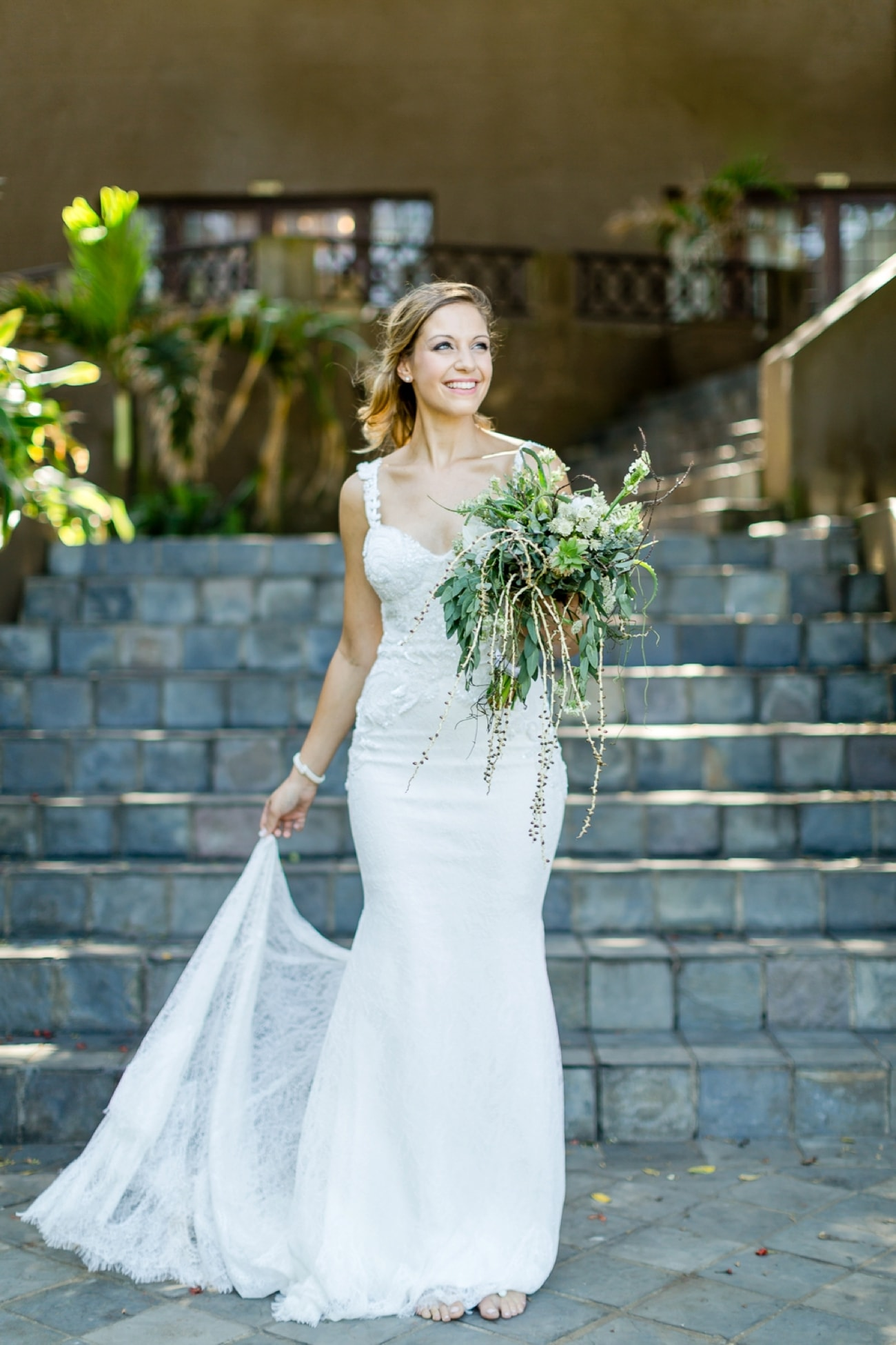 Simple Elegant Wedding Dress with Lace Embroidery | Credit: Grace Studios / Absolute Perfection