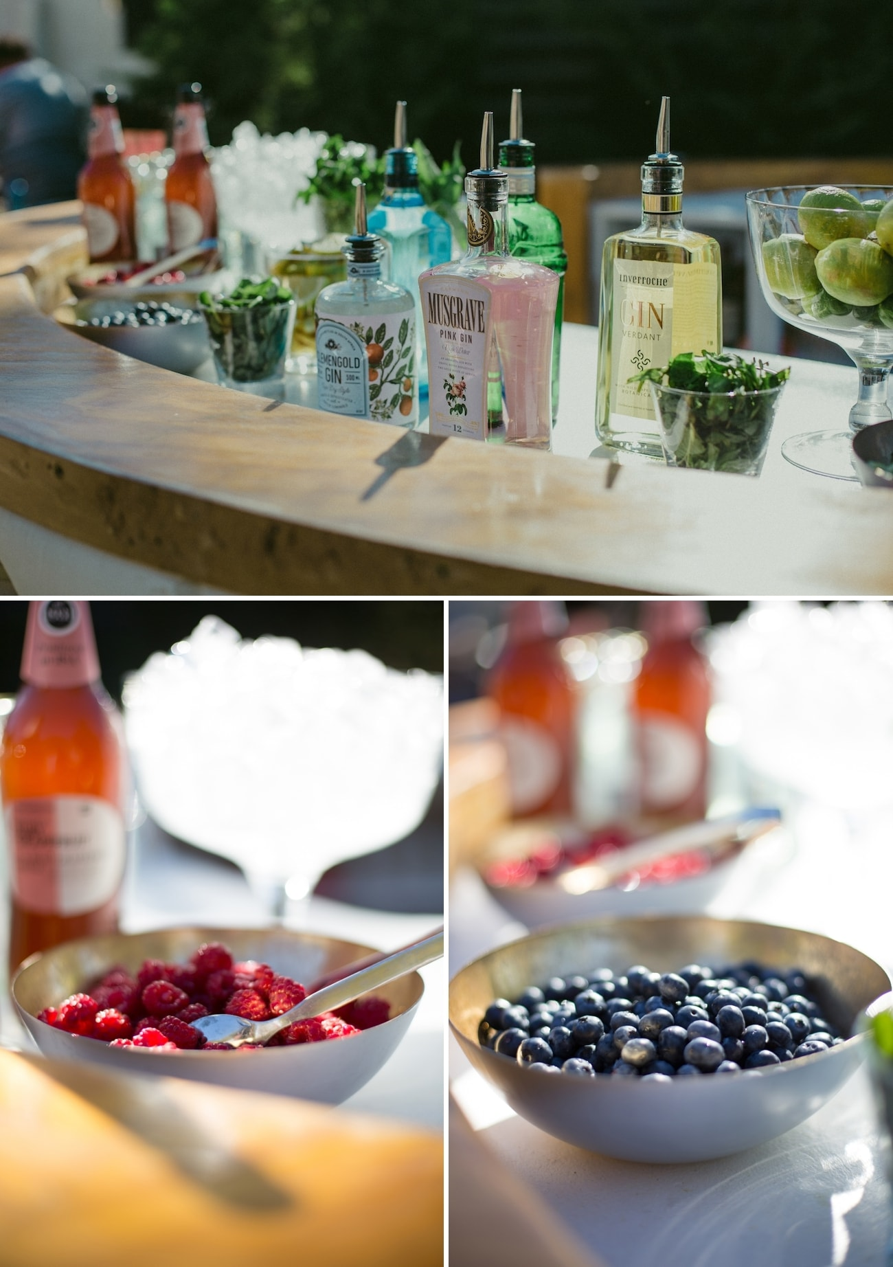 Gin Bar at Wedding | Credit: Vivid Blue