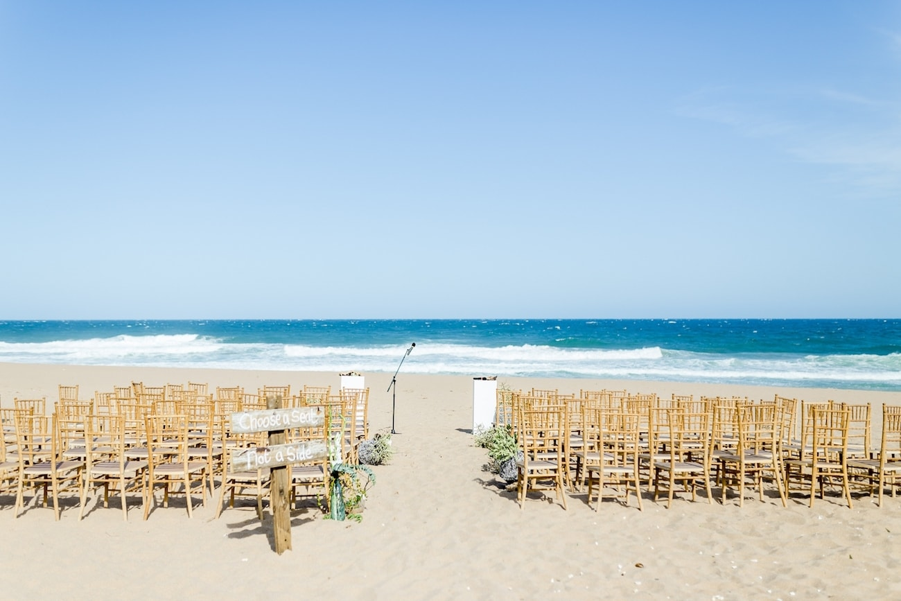 Dreamy Beach Wedding Ceremony Setting | Credit: Grace Studios / Absolute Perfection