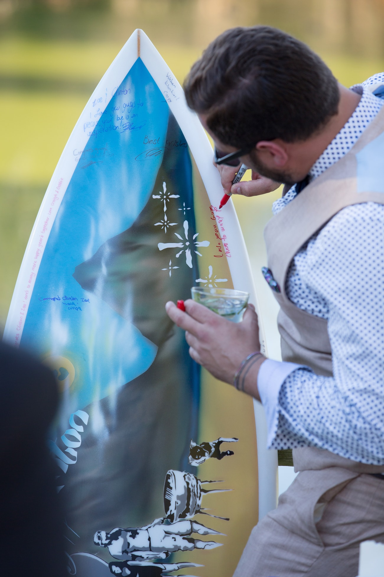 Surfboard Guest Book | Credit: Vivid Blue